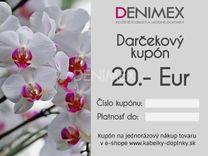 Darčekový kupón DK20